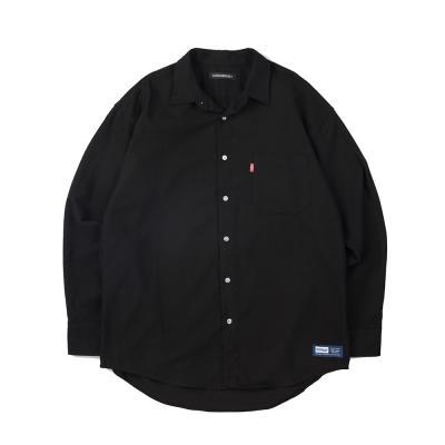 157 솔리드 셔츠 (블랙)