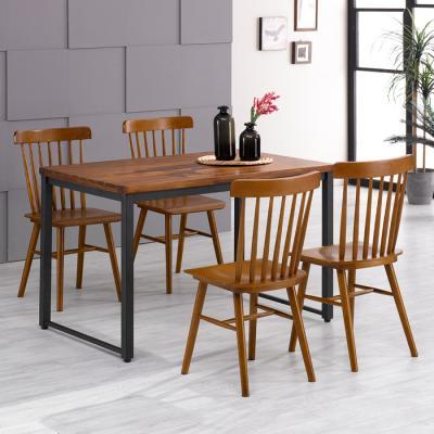 유럽형 아카시아 4인 식탁+의자800 세트 FN702-13