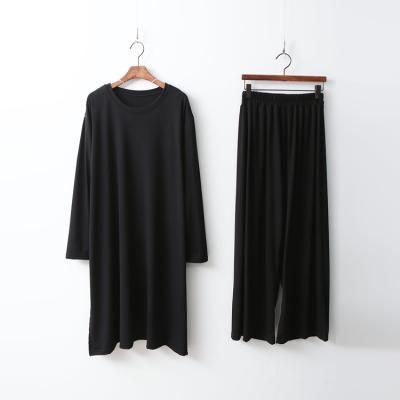 [Set] Easy Long Tee + Wide Pants