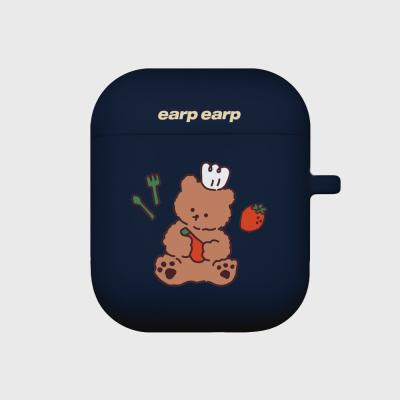 strawberry time-navy(Air pods)