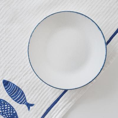 블루보카시 접시 16cm