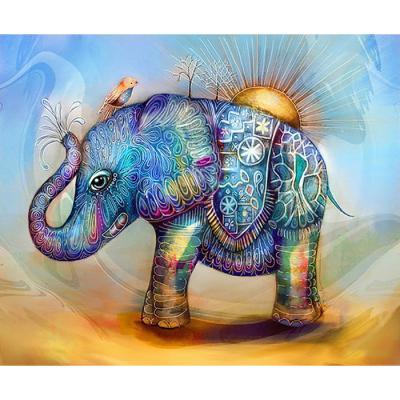 태양의 코끼리 (패브릭) 보석십자수 30x40