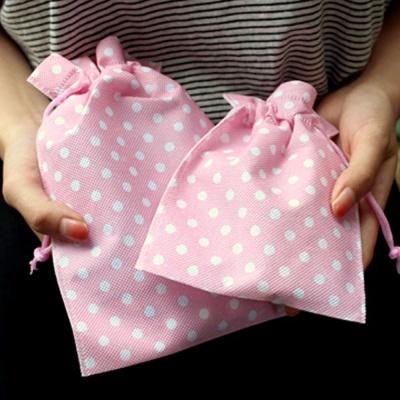 핑크 땡땡이 특별한 선물 포장 부직포 주머니