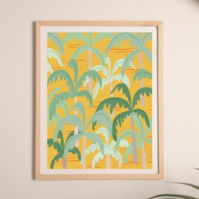 palm tree yellow