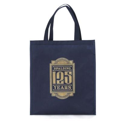 데일리 디자인 편한 스팔딩 125주년 쇼핑백 네이비