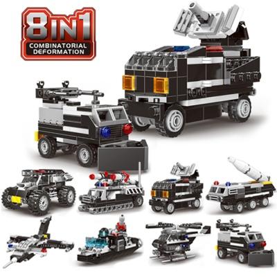 미니블럭 SWAT 경찰특공대 장갑차 8종 세트블록 블랙