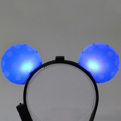 LED점등 미키머리띠 (블루)