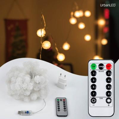 어반 LED 눈꽃전구 100구 USB형
