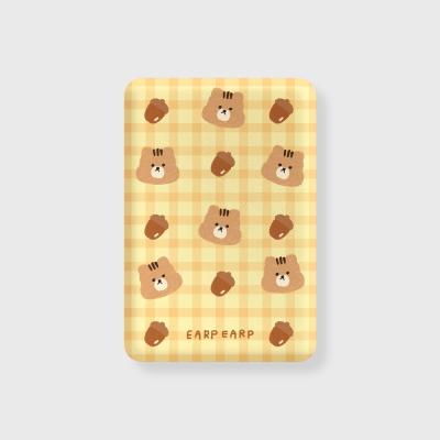 Check squirrel acorns-yellow(무선충전보조배터리)