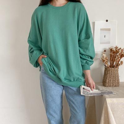 [애슬릿]국내 생산 면 100% 무지 여성 긴팔 티셔츠