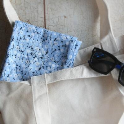 mini 스카프 - 손수건 (하늘빛 가든)