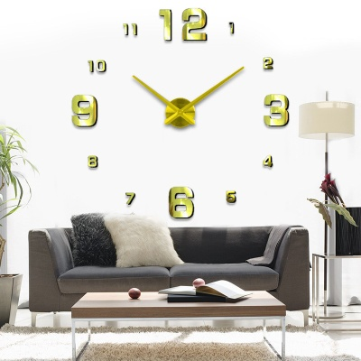 DIY 고딕넘버 붙이는 벽시계(골드)
