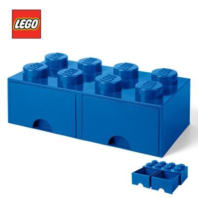 레고 블럭 서랍형정리함 8구 1731_ 파랑