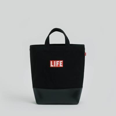 LIFE 2WAY TOTE BAG_BLACK