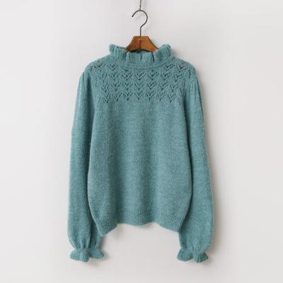 Alpaca Wool Frill Sweater