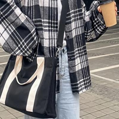 데일리 에코백 캔버스 숄더백 도트백 가방 토브드