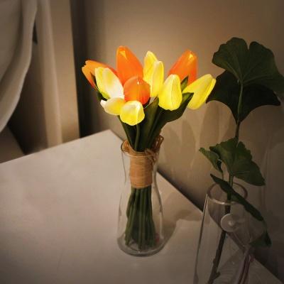 뉴배터리 오렌지 튤립 부케 LED 무드등