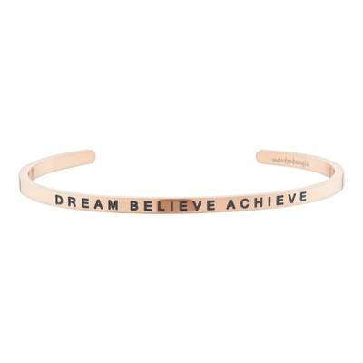[만트라뱅글] DREAM BELIEVE ACHIEVE - 로즈골드