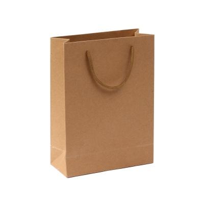 무지 세로형 쇼핑백(브라운)(19x26cm)
