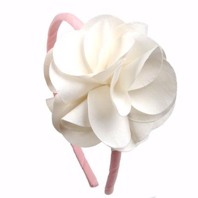 [헤어보우]Lovely Flower 헤어밴드-Ivory