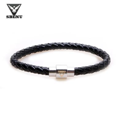 [스베누] LETHER BRACELET 블랙 SBNB4102-01