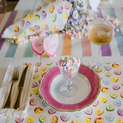 하트무늬 종이 플레이스매트 24매 placemat