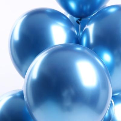 30cm 메탈 크롬풍선 (50개입) 블루