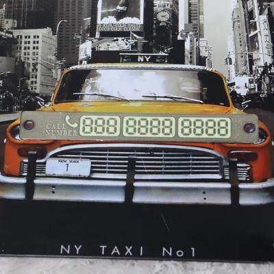 차량용 야광번호판 골드 자동차전화번호판 주차번호