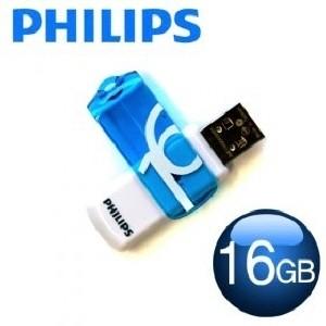 [PHILIPS] 필립스 USB메모리 / VIVID 16GB / 색상:블루+화이트 /스윙방식 / 초소형사이즈 /