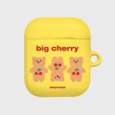 Three cherry big bear-yellow(Hard air pods)