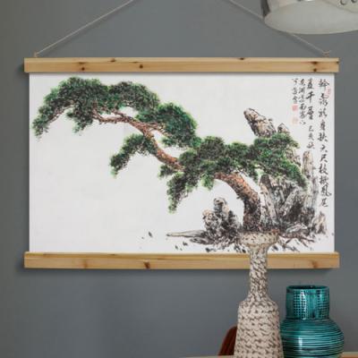 da345-우드스크롤_90CmX60Cm_동양화장수의소나무