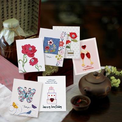 카드/축하카드/감사카드/연하장/미니카드 럭셔리 미니카드 FT5042 (12종 한세트)