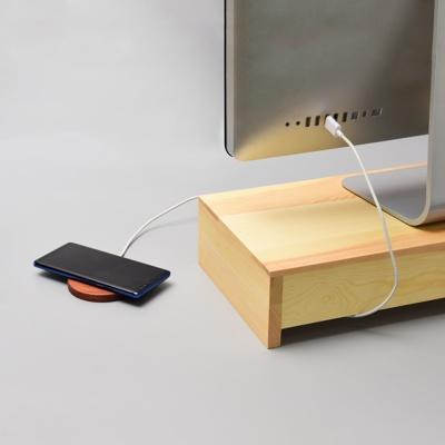 우드로하우스 소나무 원목 서랍 모니터 받침대HDM-803