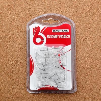 문구존 투명 푸쉬핀 35p세트