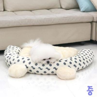 반달미키침대 중 (아이보리) 애견침대 고양이 쿠션