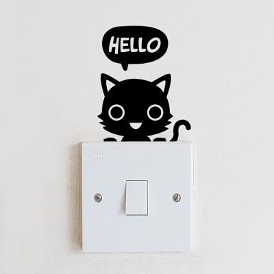 [아빠곰스티커]안녕고양이