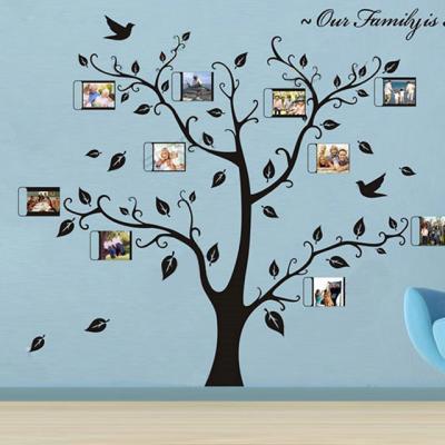 나무 벽지 스티커