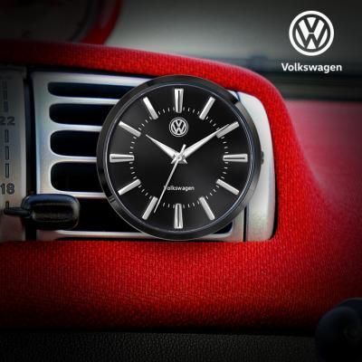 폭스바겐 클립 접착식 차량용 시계 VW-TIG-BK
