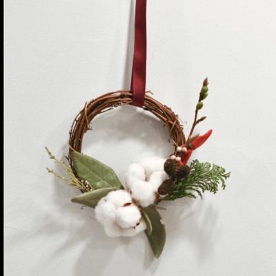 [디어먼트] 겨울소품 산타 미니 리스