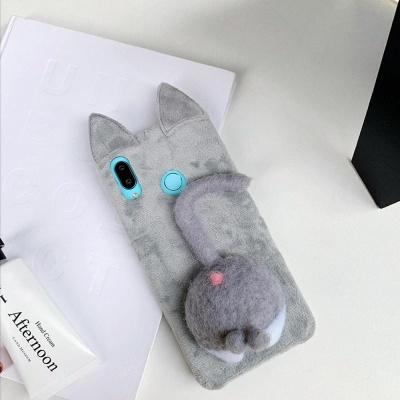 아이폰11 XR XS 맥스 X 8 7 강아지 엉덩이 털 케이스
