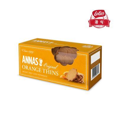 로투스 안나비스킷 오렌지맛 틴 비스킷 150g
