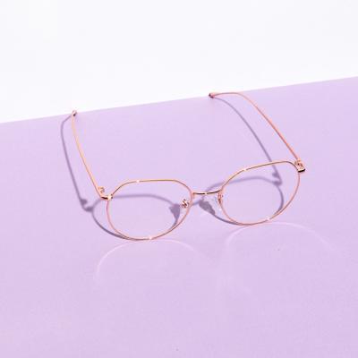 shine 골드 코받침있는 얇은테 안경 금속테안경 메탈