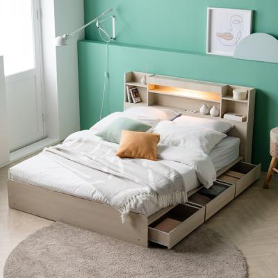 아르메 레이첼 LED 수납형 침대 Q_밸런스 7존독립매트