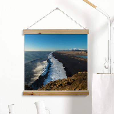 ah291-우드스크롤_60CmX60Cm-절벽에서보는바다풍경