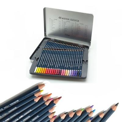 문화 48색 수채화 틴 색연필