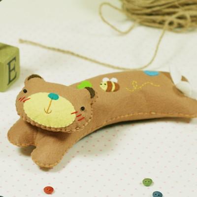 곰돌이 손목쿠션