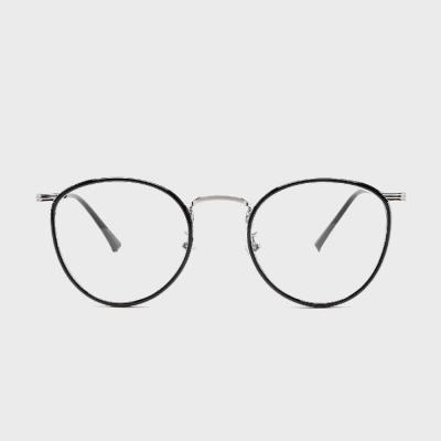 shine 블랙 원형 완테 안경 금속테안경 메탈안경 패션