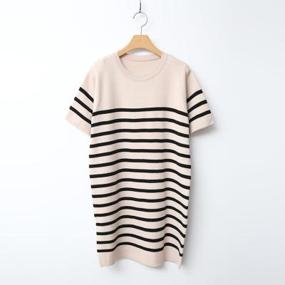 Stripe Knit Dress - 반팔