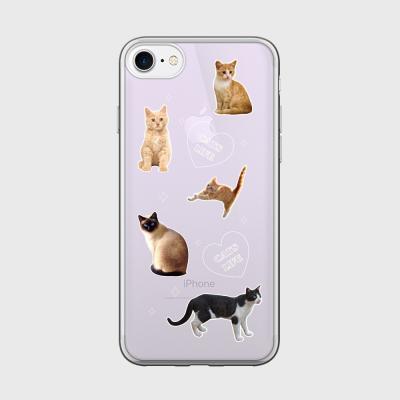 cat love 글로시미러케이스