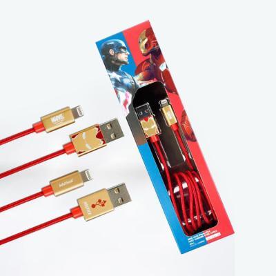 마블 아이언맨 8핀 아이폰 고속충전 케이블